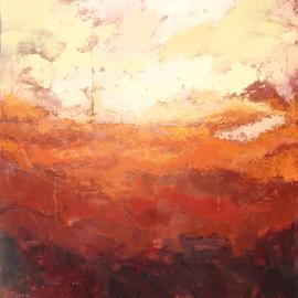 Jessica Dunn: 'june', 2016 Acrylic Painting, Abstract. Artist Description: Abstract landscape. Textural layers in warm tones. Sunlight. ...