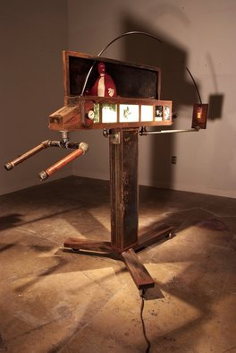 James Ferraro: 'THE RIOT PROJECTOR', 2007 Steel Sculpture, Political.  VIEWERS DISCRETION ...