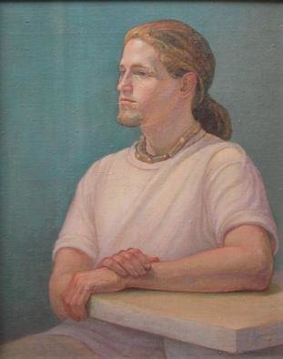 Judith Fritchman: 'Andy', 2002 Oil Painting, Portrait. A young man with dreams of an art career and travel. ...