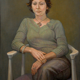 Judith Fritchman: 'Gretchen', 2003 Oil Painting, Portrait. Artist Description:   Gretchen was a serene, happy high school student who was preparing her portfolio for admission into a college art program when I had the pleasure of painting her.  ...