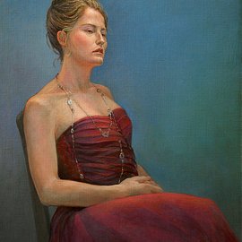 Judith Fritchman: 'Jess', 2007 Oil Painting, Portrait. Artist Description:  Enthusiastic, engaging, and responsive, Jess is a portrait painters dream.  It was great fun to have her as a model. ...