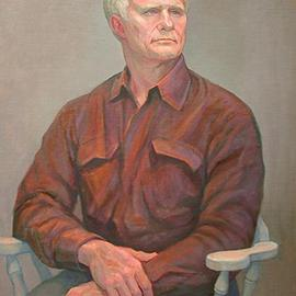 Judith Fritchman: 'John', 2004 Oil Painting, Portrait. Artist Description: John is a quiet, thoughtful man who enjoys many outdoor activities.  He found it difficult to pose for his portrait without frequent breaks for fresh air!...