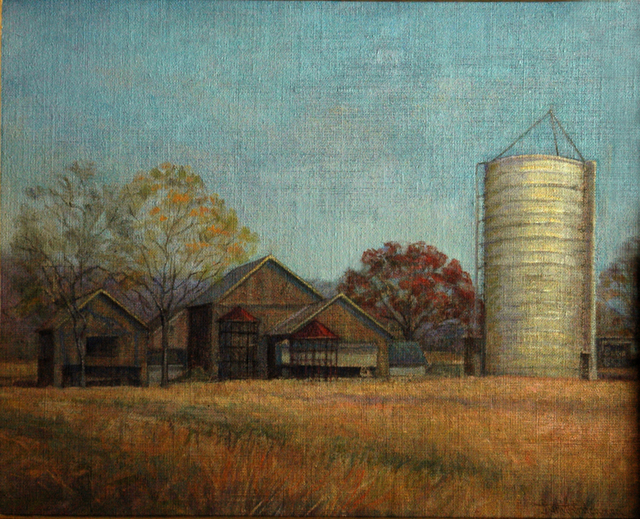 Judith Fritchman  'Linsays Farm At  Rest', created in 1994, Original Painting Acrylic.