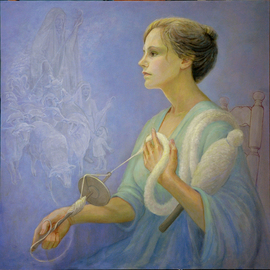 Judith Fritchman: 'Rachels Sorrow', 2013 Oil Painting, Figurative. Artist Description:     The story of Rachel' s marriage to Jacob is related in the book of Genesis.  Rachel was much loved by Jacob, but she was deeply grieved by her inability to have children, and consumed with her envy of her sister Leah' s many children in her ...