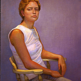 Judith Fritchman: 'Rebecca II', 2004 Oil Painting, Portrait. Artist Description:  Rebecca is a lovely, talented, young artist who is now attending art school. ...