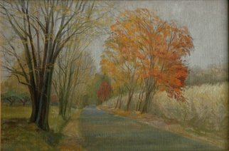 Artist: Judith Fritchman - Title: Road Home in Autumn - Medium: Oil Painting - Year: 2004