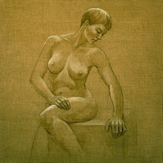 Artist: Judith Fritchman - Title: Seated Nude I - Medium: Other Painting - Year: 2009