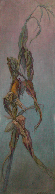 Artist Judith Fritchman. 'Stalking Corn' Artwork Image, Created in 1999, Original Painting Acrylic. #art #artist