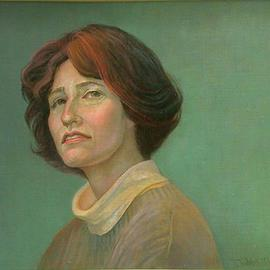 Judith Fritchman: 'The Question', 2000 Oil Painting, Portrait. Artist Description: The bright, inquisitive expression on this young woman' s face was a joy to paint.  Even after a long afternoon she never lost  her enthusiasm and interest....