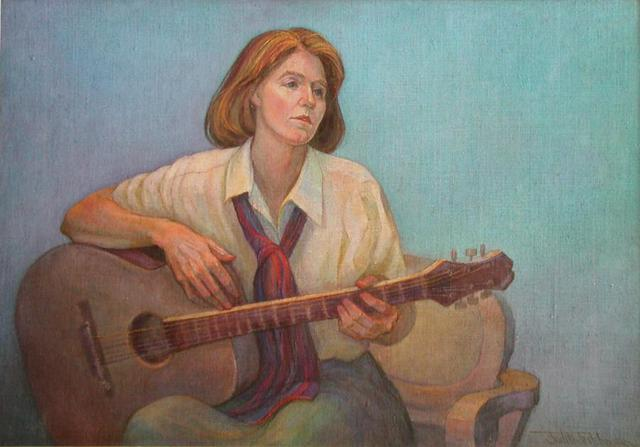 Judith Fritchman  'Time For Music', created in 1999, Original Painting Acrylic.