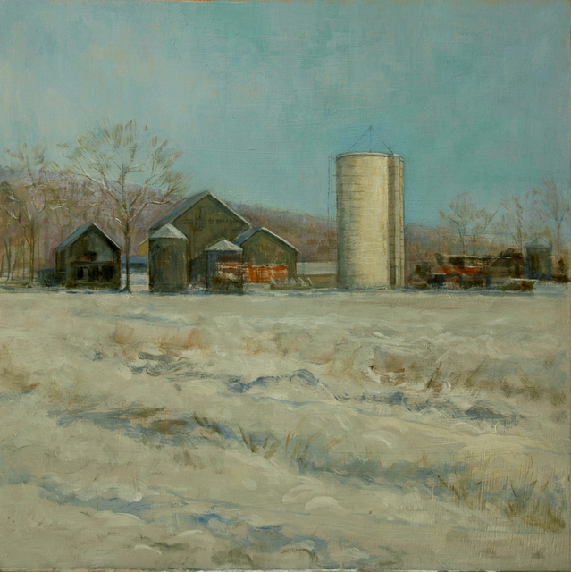 Judith Fritchman  'Winter At Lindsays Farm', created in 2007, Original Painting Acrylic.