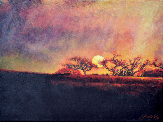 Artist John Gamache. 'Fiery Sunset' Artwork Image, Created in 2013, Original Giclee Reproduction. #art #artist