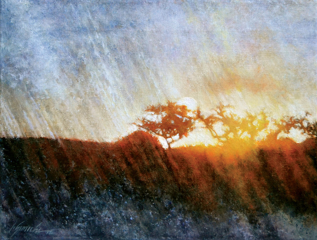 Artist John Gamache. 'Snow Squall At Sunset' Artwork Image, Created in 2013, Original Giclee Reproduction. #art #artist