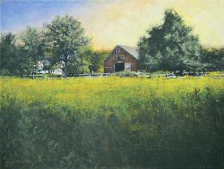 Artist: John Gamache - Title: Who Left the Barn Door Open - Medium: Oil Painting - Year: 2013