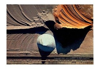 John Griebsch: 'Gary Ore Piles, Gary, Indiana, USA', 2008 Color Photograph, Abstract Landscape. Artist Description:  Aerial Photograph of piles of different types of iron ore at a steel mill. ...