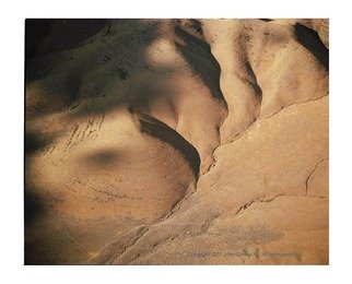 John Griebsch: 'Hills and Shadows 3, near the Continental Divide, Montana, USA', 2008 Color Photograph, Abstract Landscape. Artist Description:  Aerial Photograph ...