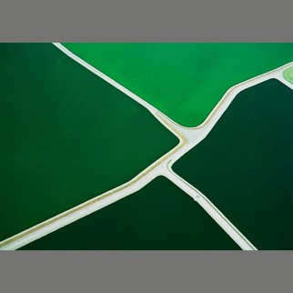 John Griebsch: 'five green ponds 072', 2008 Color Photograph, Landscape. Aerial Photograph    Archival print number 4 of an edition of 25    ...