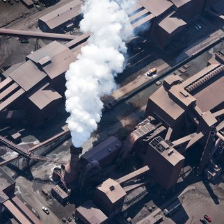 John Griebsch: 'gary indiana steel mill 256', 2011 Color Photograph, Landscape. Artist Description:  Aerial Photograph Archival Print  6 25...