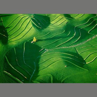 John Griebsch: 'undulating nebraska 004', 2005 Color Photograph, Landscape.  Aerial Photograph Archival Print       edition 10 of 25...