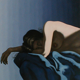 Asleep on Blue Drape  By James Gwynne