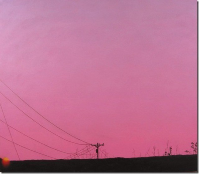 James Gwynne Sunset and Telephone Pole 2012