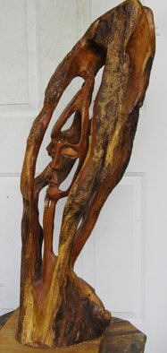 John Clarke: 'brothers', 2008 Wood Sculpture, Abstract Figurative. Artist Description: Two brothers grow in and out of their lives together...