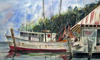 Artist: Don Bradford - Title: Alabama Fresh Shrimp - Medium: Watercolor - Year: 2011