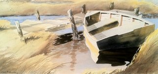 Artist: Don Bradford - Title: Docs Old Rowboat - Medium: Watercolor - Year: 2004