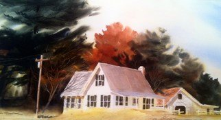 Don Bradford: 'Docs Place', 2002 Watercolor, Farm.             Summer playground in Michigan.  ...