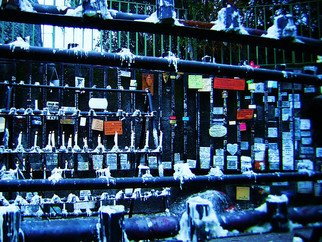 Jillian Dempsey: 'Altar', 2008 Color Photograph, Travel.  Altar of candles in Santiago Chile. Digital photo. ...