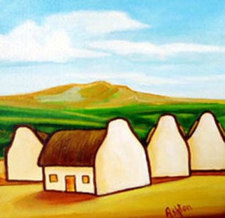 Jill Vance: 'Country Side', 2006 Acrylic Painting, Landscape.  Irish Cottages by an Irish artist ...