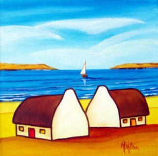 Jill Vance: 'Twins', 2006 Acrylic Painting, Landscape.  Irish Cottages by an Irish artist ...