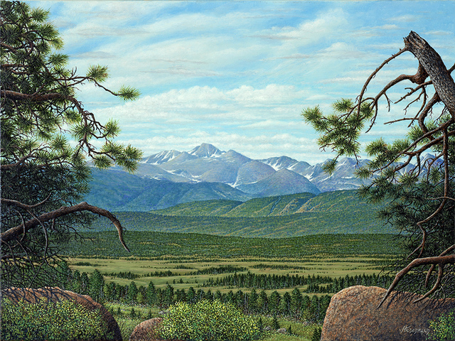 James Hildebrand  'Longs Peak', created in 2016, Original Painting Oil.