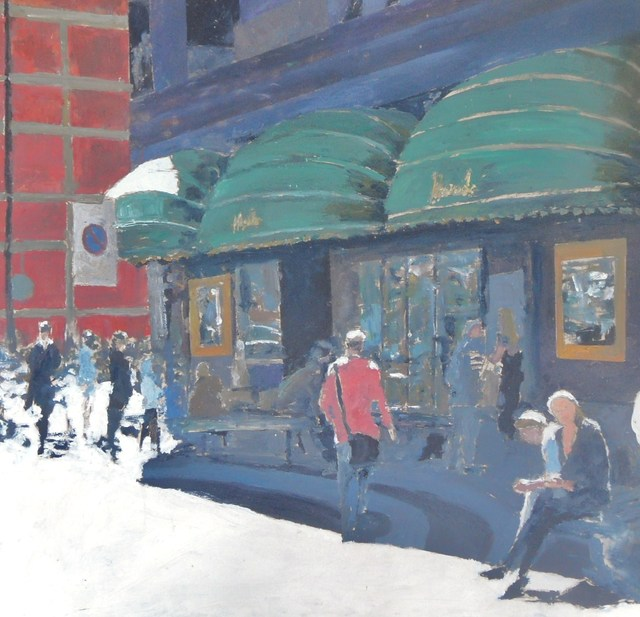 James Bones  'Harrods London', created in 2017, Original Painting Acrylic.