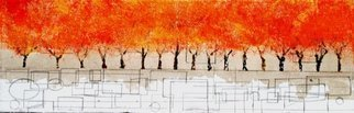 Jim Lively: 'Autumn Zin', 2014 Other, Surrealism.                  Zinfandel Wine, Pencil and Acrylic on canvas. Part of