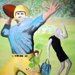 Blond Football By Jim Lively