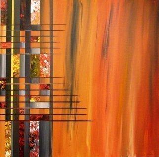 Artist: Jim Lively - Title: Burnt Orange Deconstruction - Medium: Acrylic Painting - Year: 2010