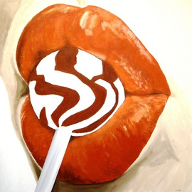 Burnt Orange Lips and Lollipop  By Jim Lively