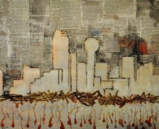 Jim Lively Artwork Dallas Skyline and Cabernet, 2014 Dallas Skyline and Cabernet, Abstract Figurative