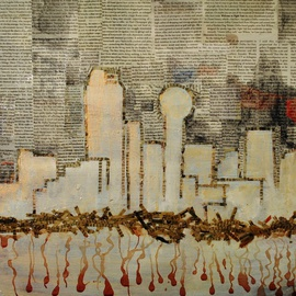 Jim Lively Artwork Dallas Skyline and Cabernet, 2014 Other, Abstract Figurative