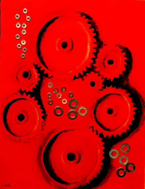 Jim Lively  'Gears And Washers', created in 2011, Original Photography Color.