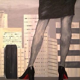 Jim Lively: 'I Own This City', 2009 Acrylic Painting, Erotic.