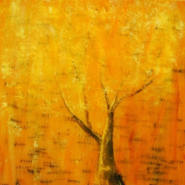 Jim Lively: 'Imaginary Autumn', 2011 Acrylic Painting, Landscape. Artist Description:                      acrylic, ink text and heavy gloss varnish on gallery wrapped canvas                                                                     ...