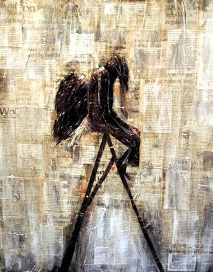 Jim Lively Artwork Perplexed Angel, 2014 Perplexed Angel, Abstract Figurative
