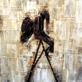 Jim Lively Artwork Perplexed Angel, 2014 Other, Abstract Figurative