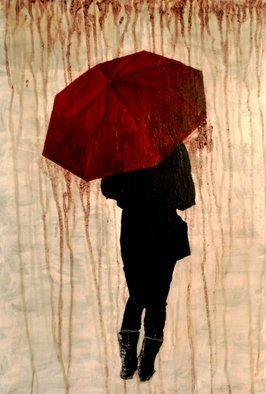 Jim Lively: 'Raining Cabernet', 2013 Acrylic Painting, Surrealism.      Acrylic and Cabernet Sauvignon on canvas. Part of