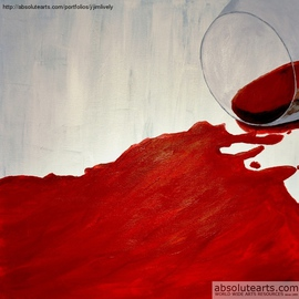 Red Wine Abstract  By Jim Lively
