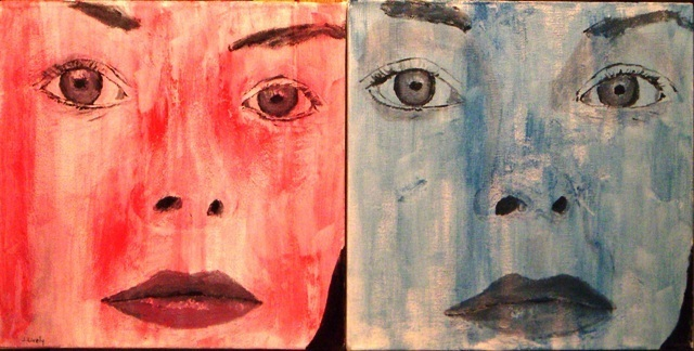 Artist Jim Lively. 'Red Woman, Blue Woman' Artwork Image, Created in 2009, Original Photography Color. #art #artist