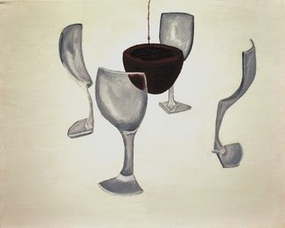 Jim Lively Artwork Splitting a Glass of Wine, 2014 Splitting a Glass of Wine, Surrealism