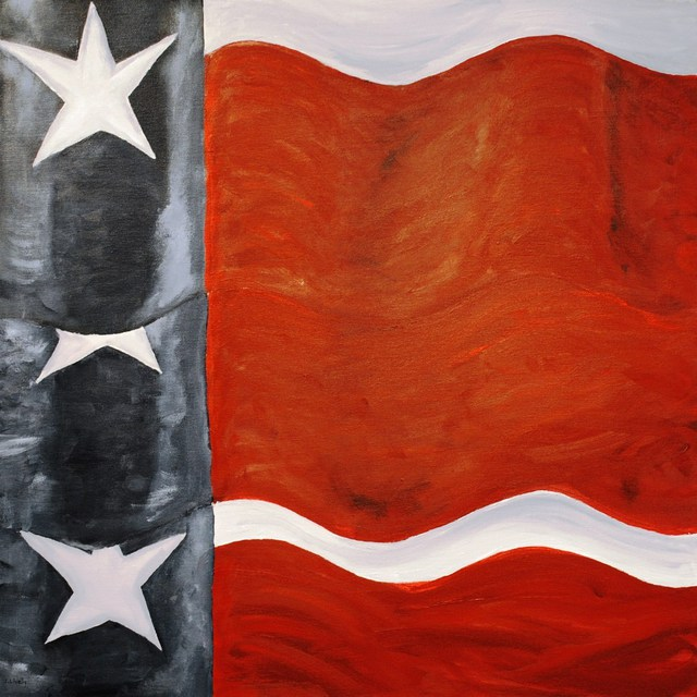 Jim Lively  'Three Texas Flags', created in 2010, Original Photography Color.